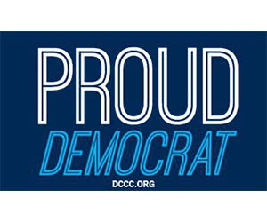 "Free ""Proud Democrat"" Sticker"