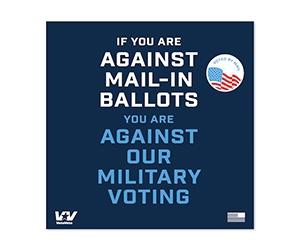 Free VoteVets Support Military Voting Sticker