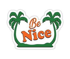 Free Be Nice Sticker