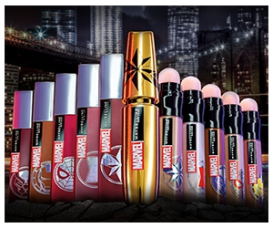 Win Marvel x Maybelline Makeup Collection + Captain Marvel Watch