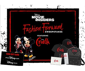 Win $500 Disney Gift Card, Plush Toys, Outfits, And More In Cruella Style