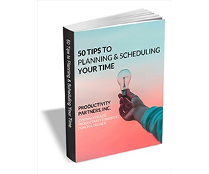 """Free eGuide: """"50 Tips to Planning & Scheduling Your Time"""""""