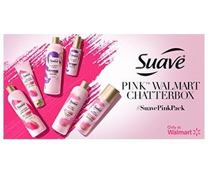 Free Suave Pink Shampoo, Conditioner, And Anti-Frizz Cream