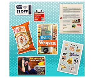 Free SOS Breakup Box With Vegan Cheese Rings, Stickers, Coupons And More