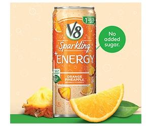 Free V8+ Energy Sparkling Water