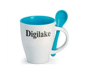 Free Digilake's Coffee Cup With A Spoon