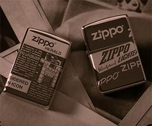 Win A Zippo Newsprint Design Lighter