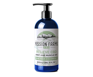 Free CBD Relieve Joint And Muscle Gel From Mission Farms