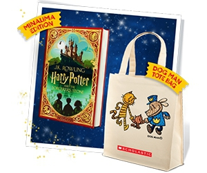 Free Tote Bag From Dog Man And Harry Potter And The Sorcerer's Stone Book Copy