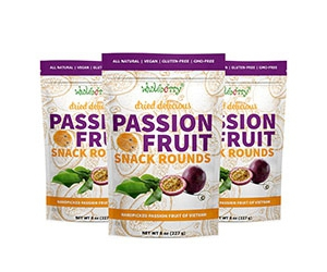 Free Wholeberry Passion Fruit Snack Rounds