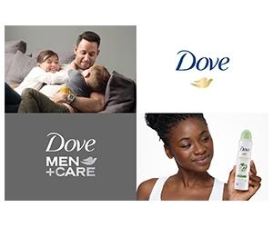 Free Dove Dry Spray Antiperspirants For Men And Women