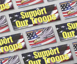 "Free ""Support the Troops"" Stickers"