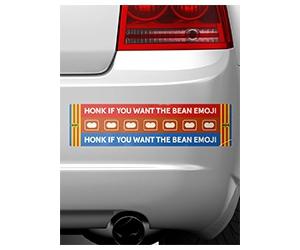 Free Bumper Sticker From Bean Emoji Bumper