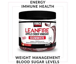 Free Force Factor LeanFire Apple Cider Vinegar Gummies