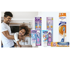 Free Spinbrush Power Toothbrush And Arm & Hammer AdvanceWhite Toothpaste