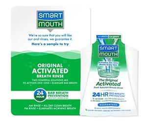Free SmartMouth Mouthwash Sample