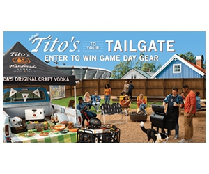 Win Tito's Bench, Grill, And More Prizes