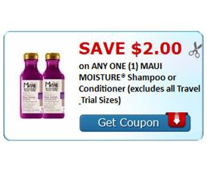 Save $2.00 on ANY ONE (1) MAUI MOISTURE® Shampoo or Conditioner