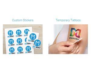 Free Custom Stickers & Temporary Tattoos