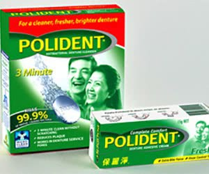 Free Polident Denture Care Products